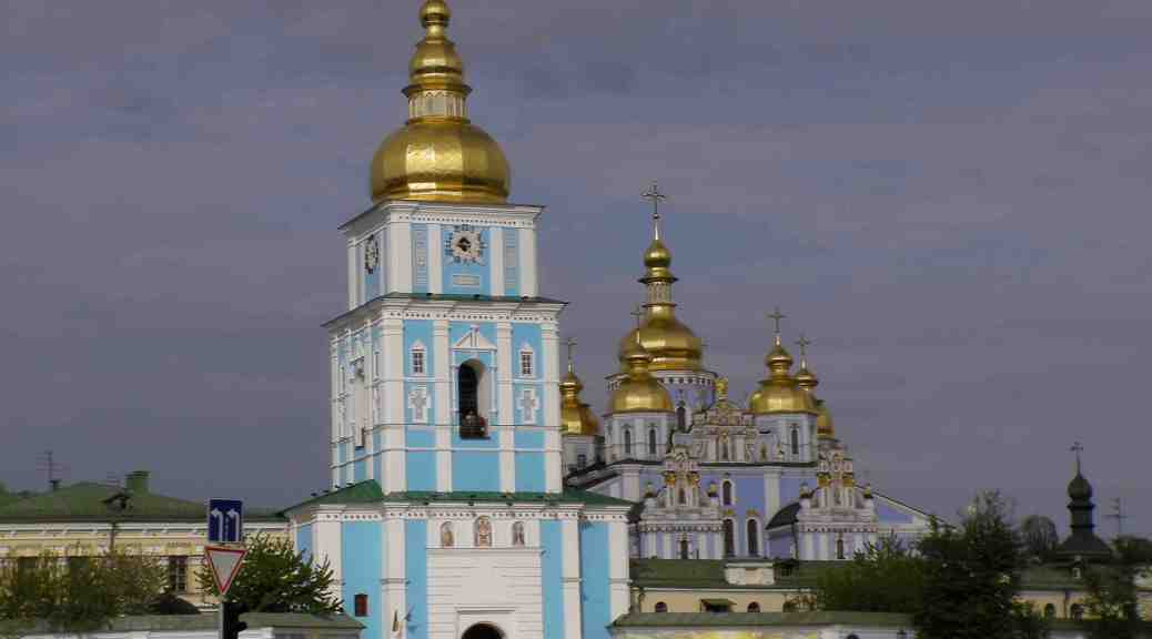 St. Michael's Cathedral in Kyiv, Ukraine.