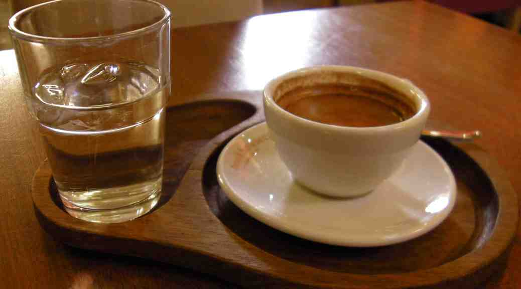 Espresso and water.